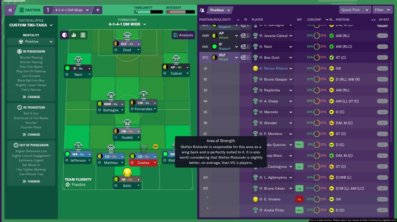fm19 possession tactic - tiki taka fm19 tactic