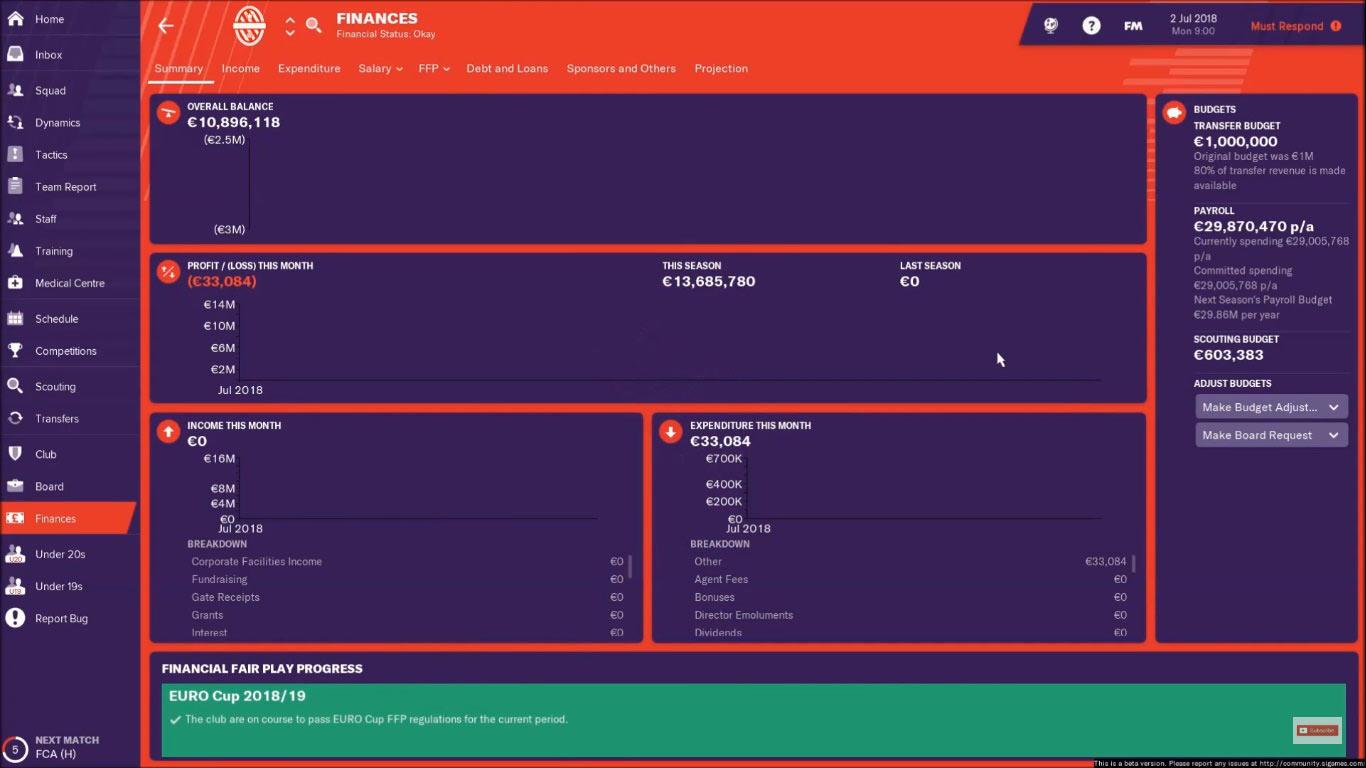 olympiacos fm19 finances