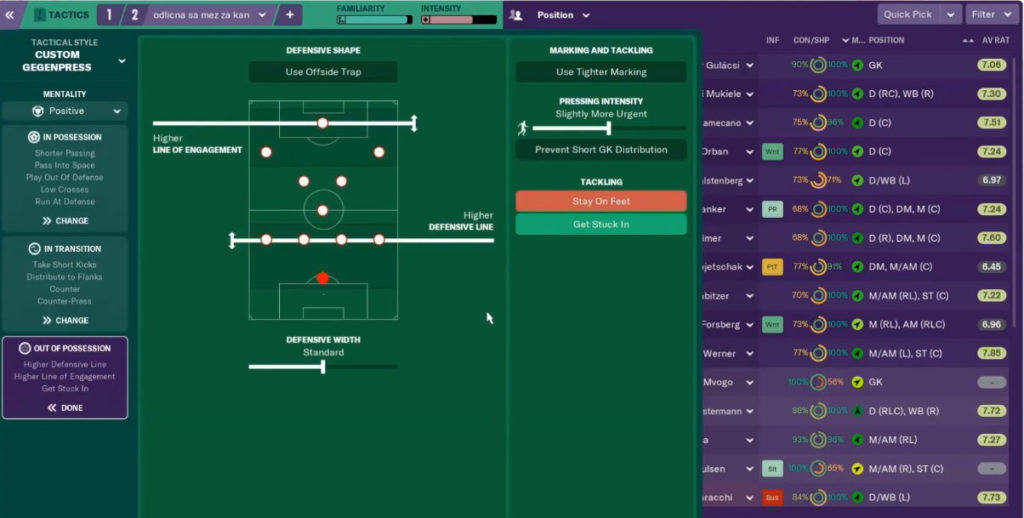 unbeatable tactic fm19 out of possession