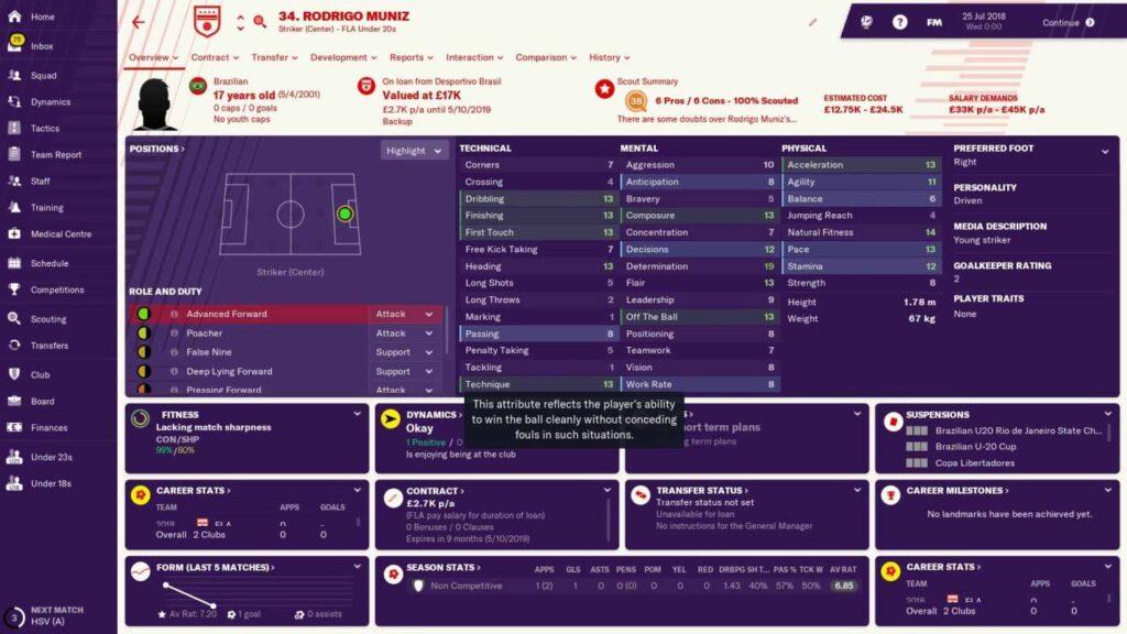 rodrigo muniz football manager 2019 - brazillian wonderkid - rodrigo muniz fm19