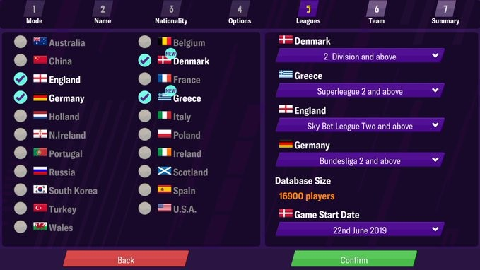 fm20 mobile version two new leagues