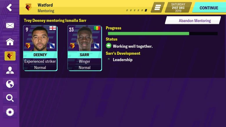 football manager 2020 mobile revamped youth development