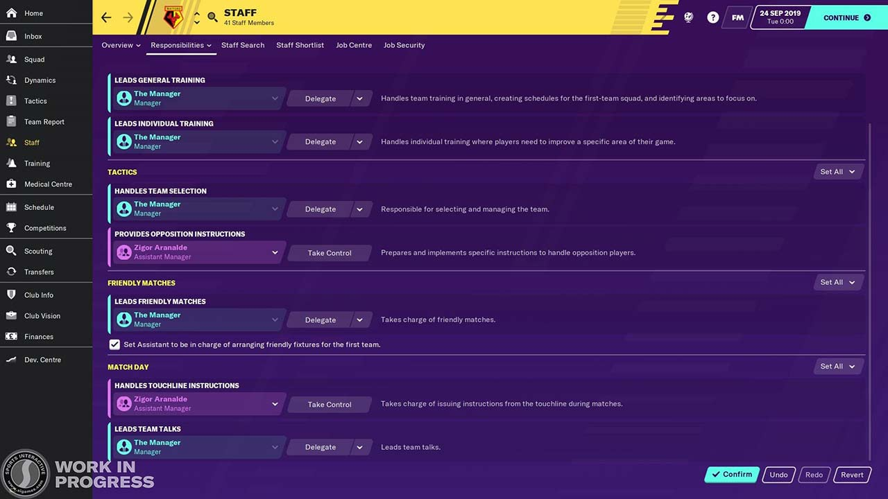 responsibilities screen new feature in football manager 2020
