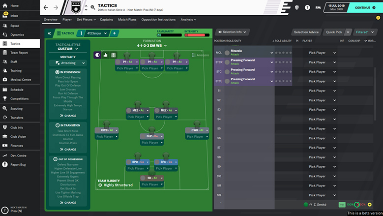 the best fm20 beta tactic - 4123 sirjur