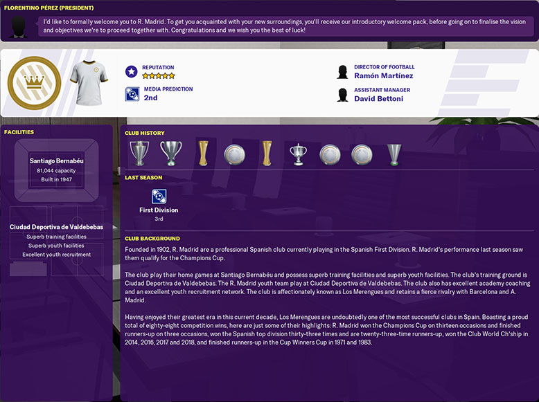 real madrid fm 20 overview - trophies