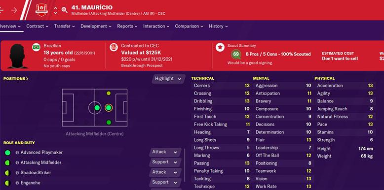 mauricio prado in football manager 2020
