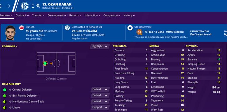 ozan kabak football manager 2020 wonderkid