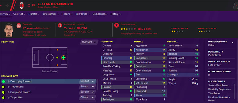 zlatan ibrahimovic fm20 - zlatan ibrahimovic fm2020 - zlatan ibrahimovic football manager 2020