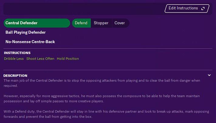 central defender defense guide