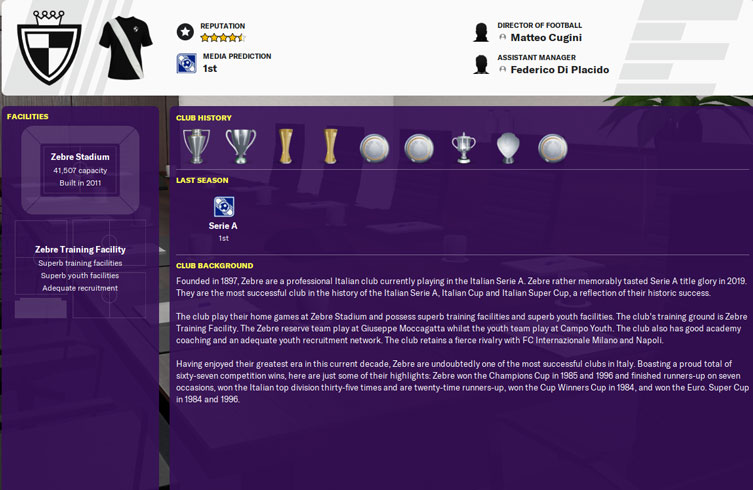 Zebre In Fm20 Juventus Football Manager 2020 Guide Fmbrotherhood