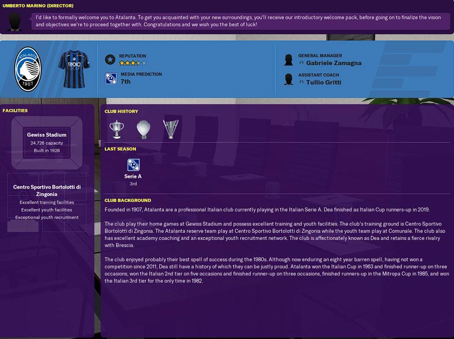 atalanta club history football manager 2020 - club history atalanta fm20