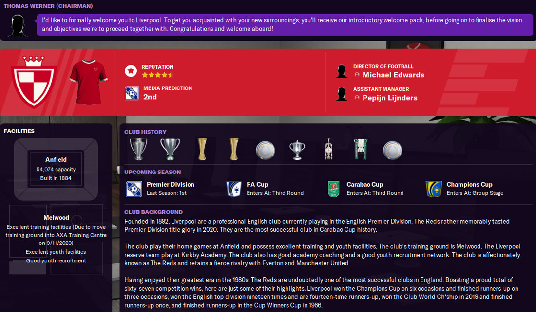 liverpool history fm21 - liverpool football manager 2021 history
